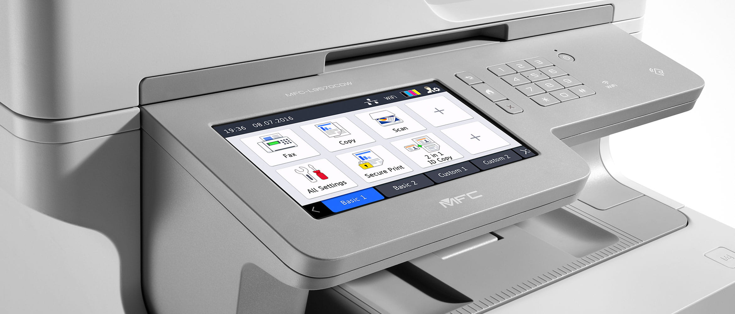Close up of Brother Multi-Function Printer screen