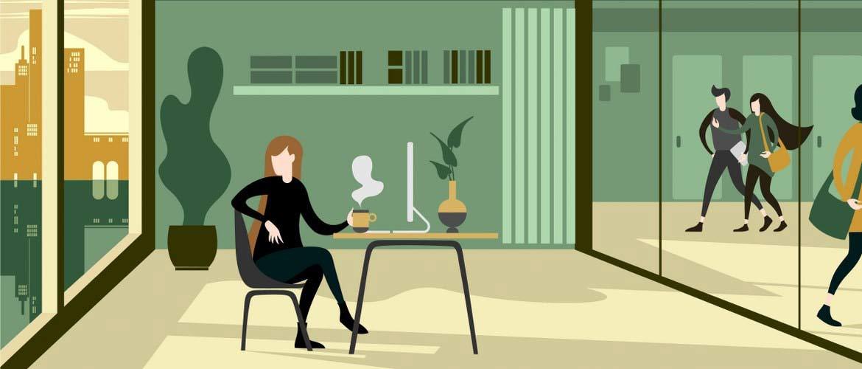 Les espaces de travail de demain donneront plus d'espace à la flexibilité
