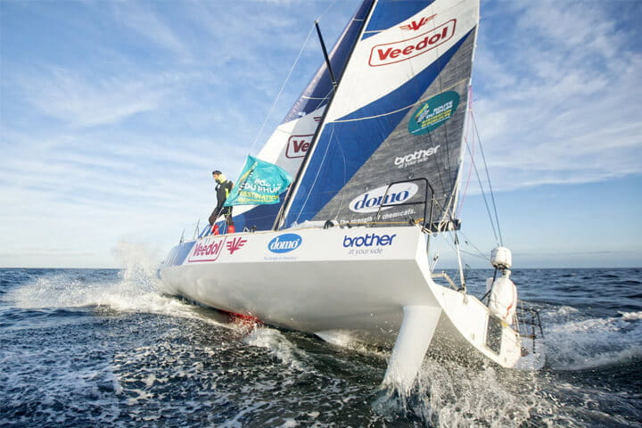Brother soutient Yoann Richomme sur la Route du Rhum 2018