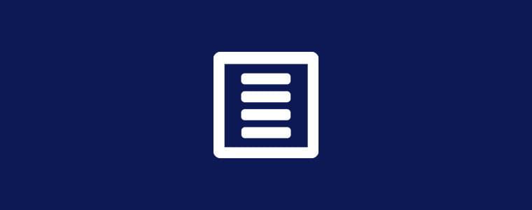 fond bleu avec icône de formulaire blanche