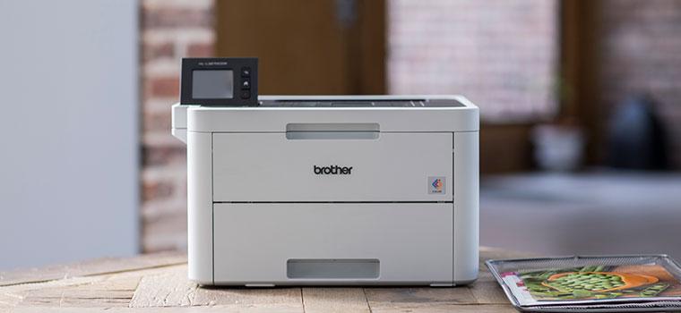 HL-L3270CDW Imprimante laser couleur sur une table en bois
