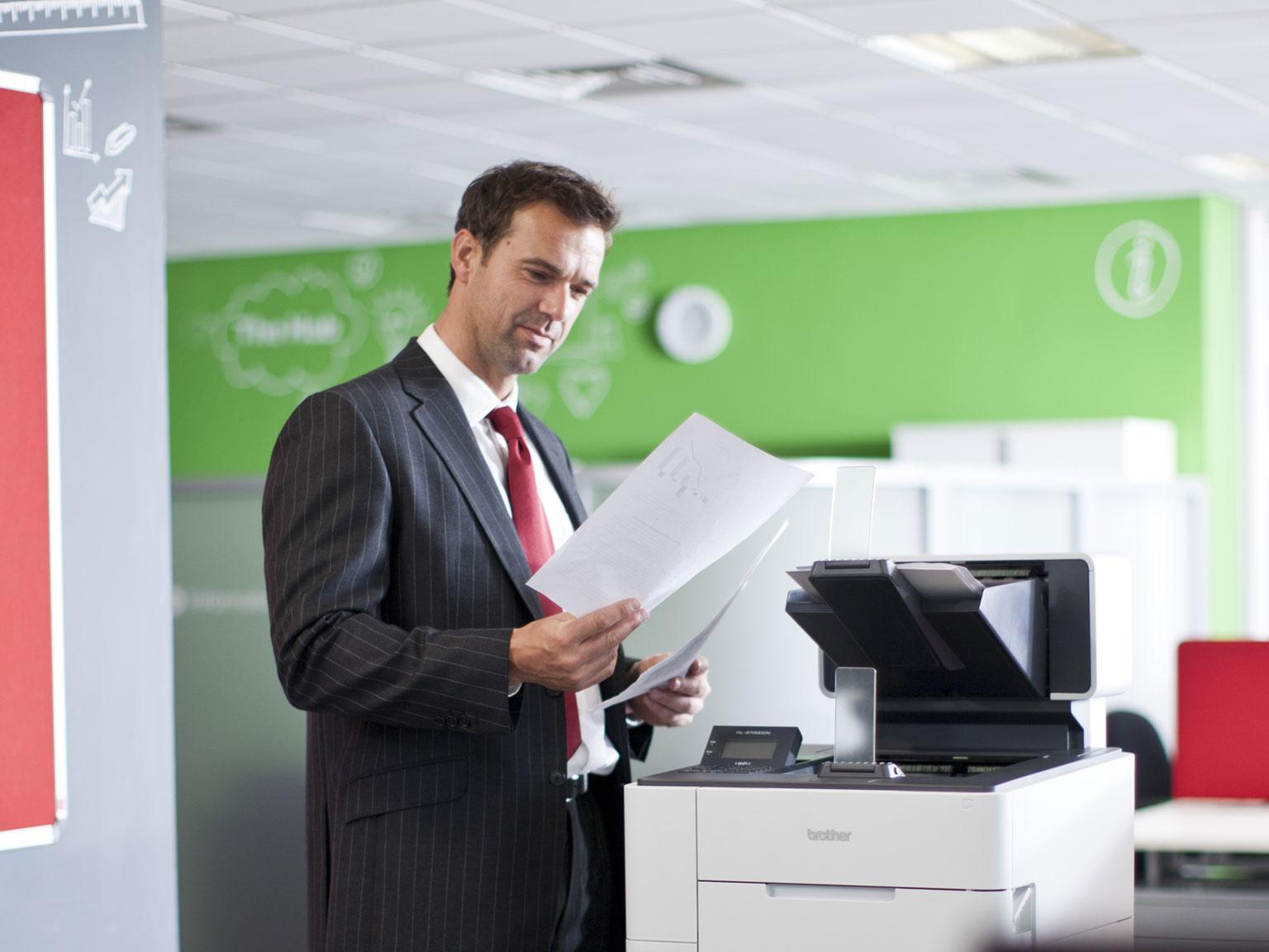 Imprimante Brother bureau banque assurance