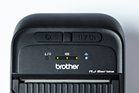 RJ3035B or RJ3055WB 3inch mobile printer close up