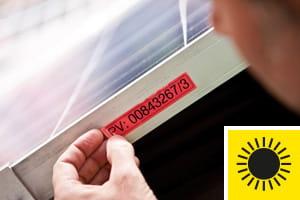 résistance à la décoloration - étiquettes testées à l'extrême