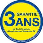 Garantie 3 ans sur toute la gamme d'imprimantes d'étiquettes QL