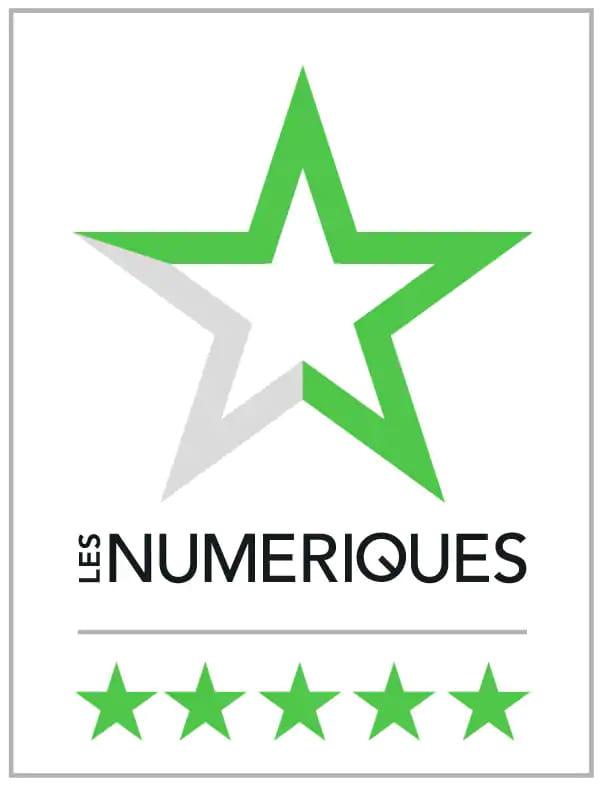 Les Numériques Award 5 étoiles
