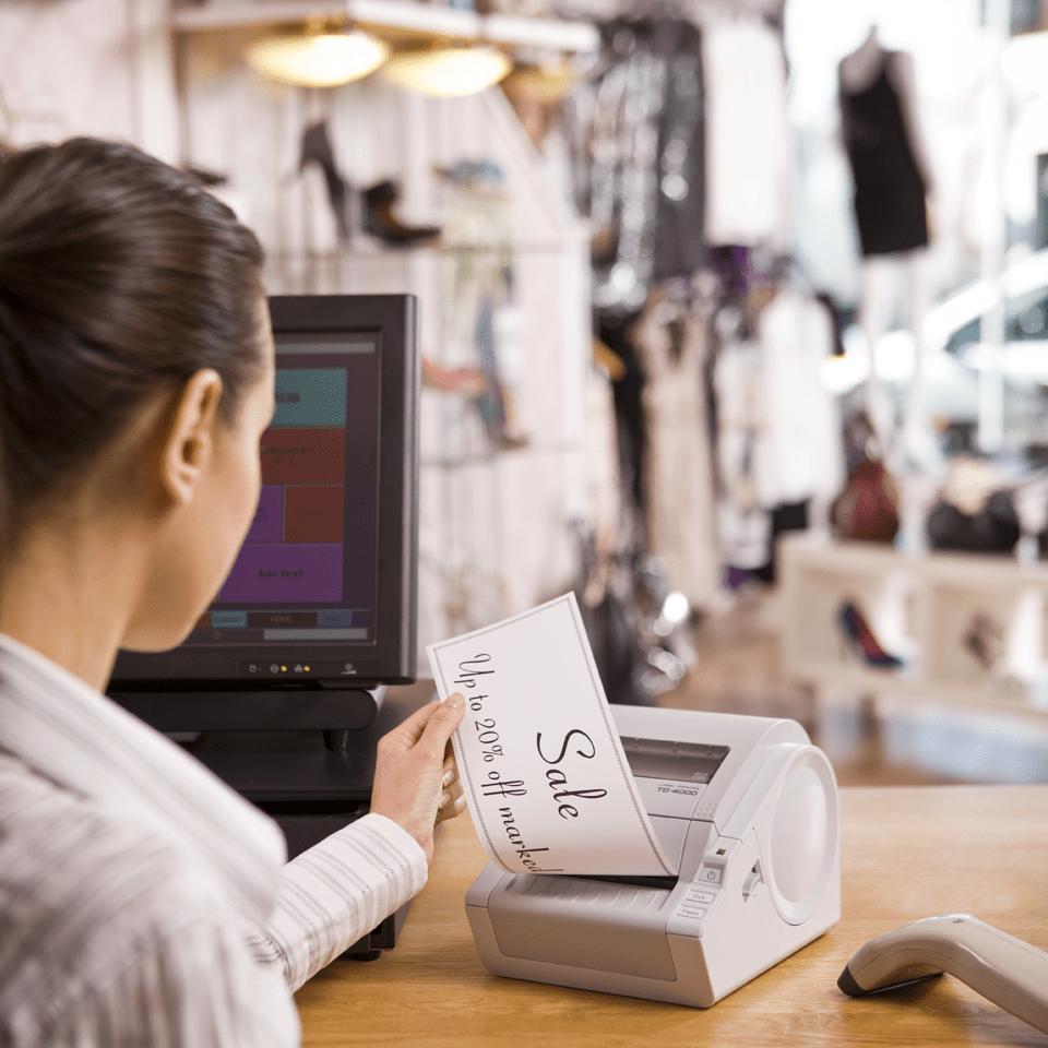 TD-4000 imprimante d'étiquettes professionnelle 4
