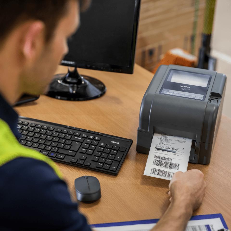 TD-4520TN - Imprimante d'étiquettes à transfert thermique  6