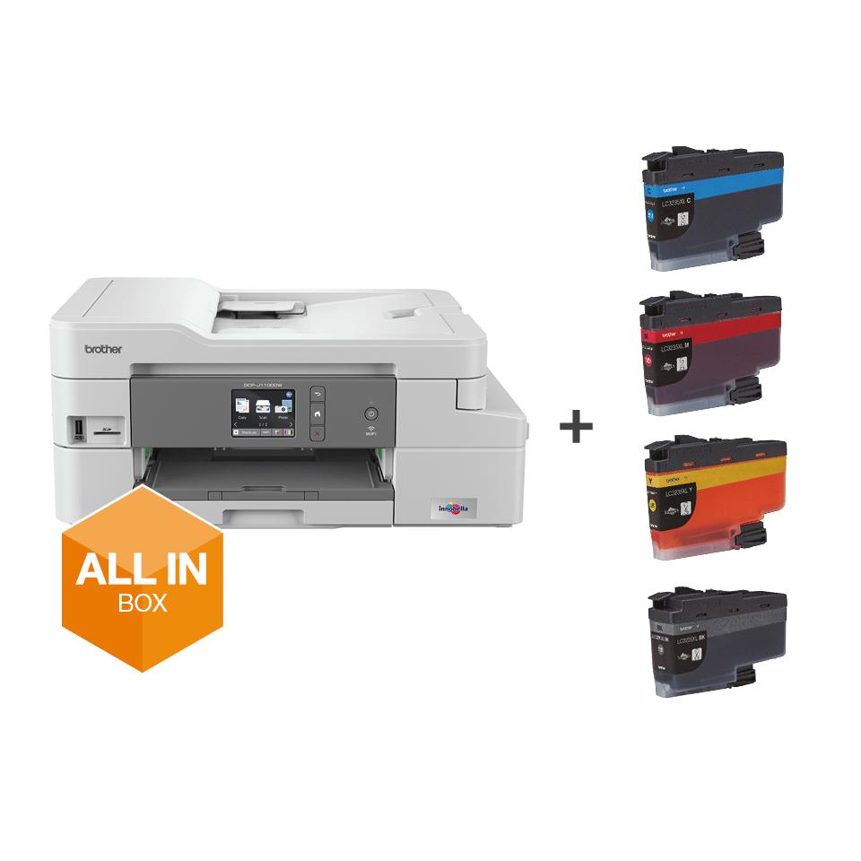 DCP-J1100DW Imprimante jet d'encre couleur multifonction 3-en-1 - All In Box