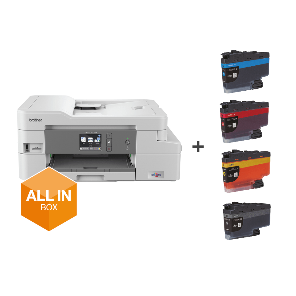 DCP-J1100DW Imprimante jet d'encre couleur multifonction 3-en-1 - All In Box 7