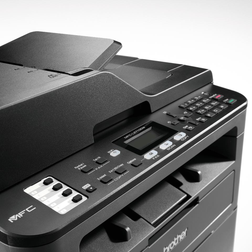 MFC-L2710DW Multifonction laser monochrome 4-en-1 compact, réseau et WiFi  4