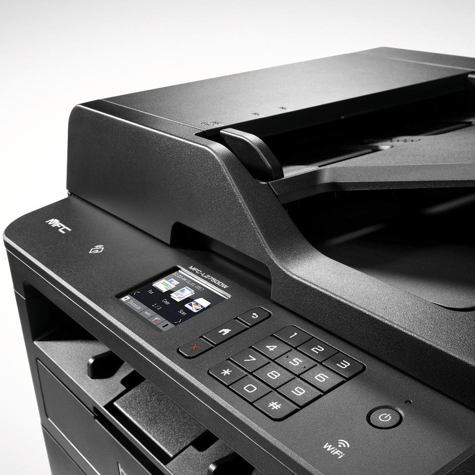 MFC-L2750DW Multifonction laser monochrome 4-en-1 compact, réseau, WiFi et NFC   4