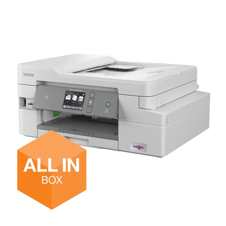 MFC-J1300DW Imprimante jet d'encre couleur multifonction 4-en-1 - All In Box