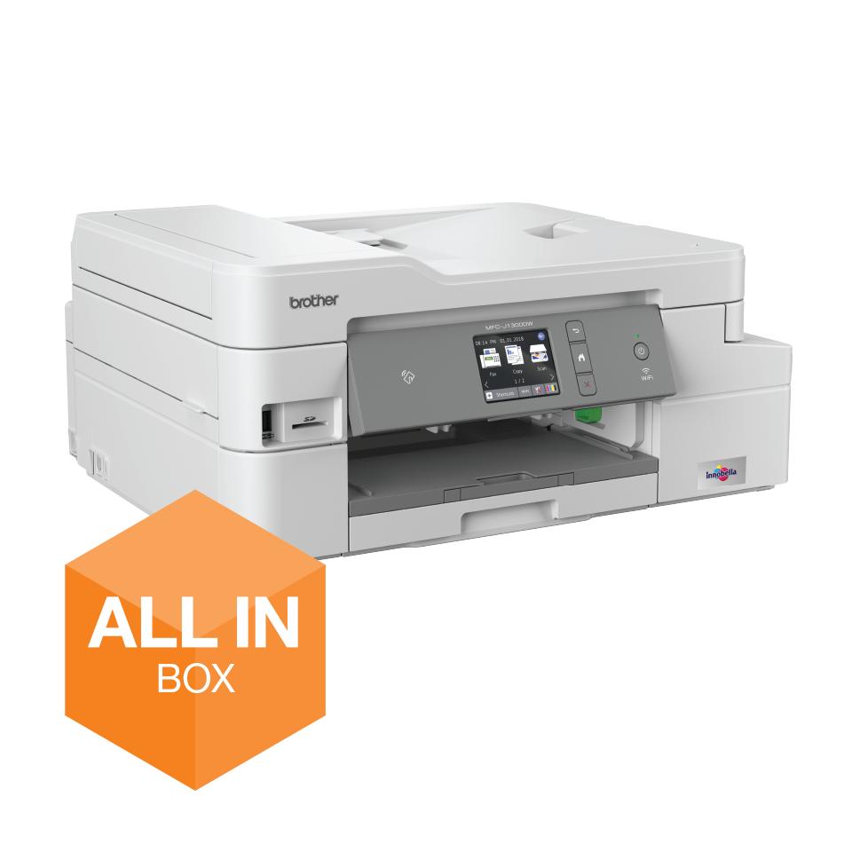 MFC-J1300DW Imprimante jet d'encre couleur multifonction 4-en-1 - All In Box 2
