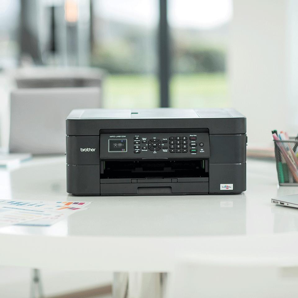 Imprimante jet d'encre couleur 4-en-1 sans fil MFC-J491DW 3