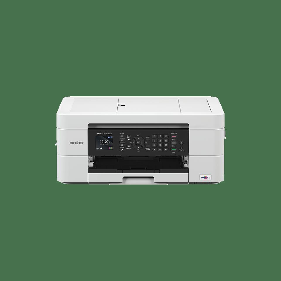 Imprimante jet d'encre couleur 4-en-1 sans fil MFC-J497DW