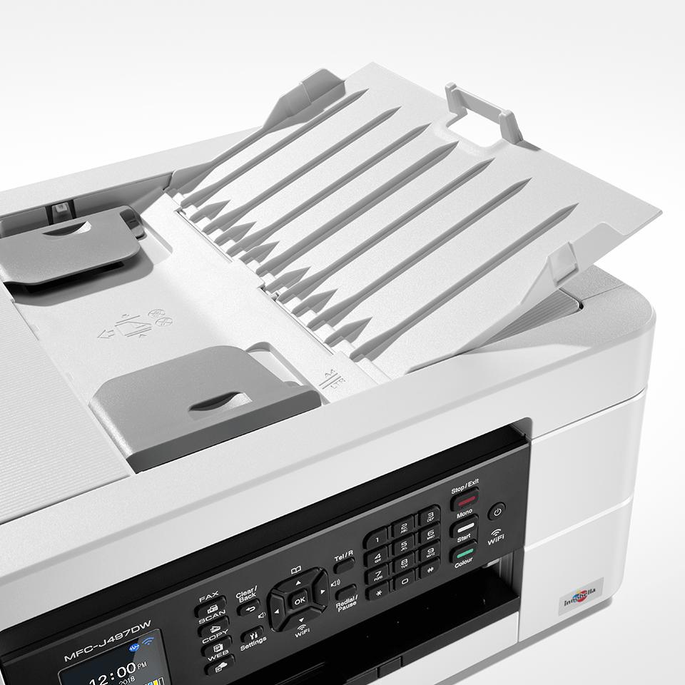 Imprimante jet d'encre couleur 4-en-1 sans fil MFC-J497DW 5