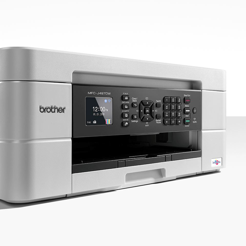 Imprimante jet d'encre couleur 4-en-1 sans fil MFC-J497DW 6