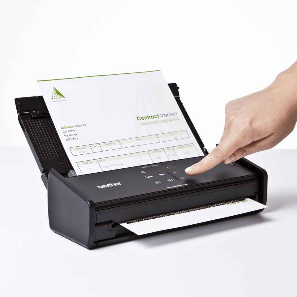 Scanner sans fil compact ADS-1100W de Brother