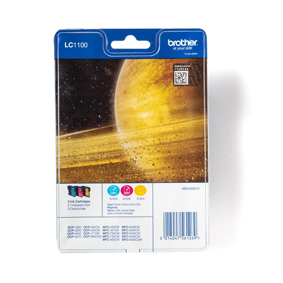 Pack de cartouches d'encre LC1100RBWBP Brother originales – Cyan, magenta et jaune