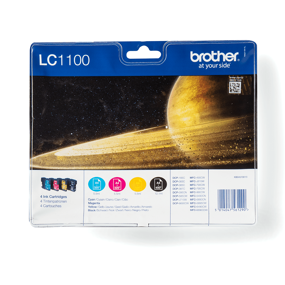 Pack de cartouches d'encre LC1100VALBP Brother originales