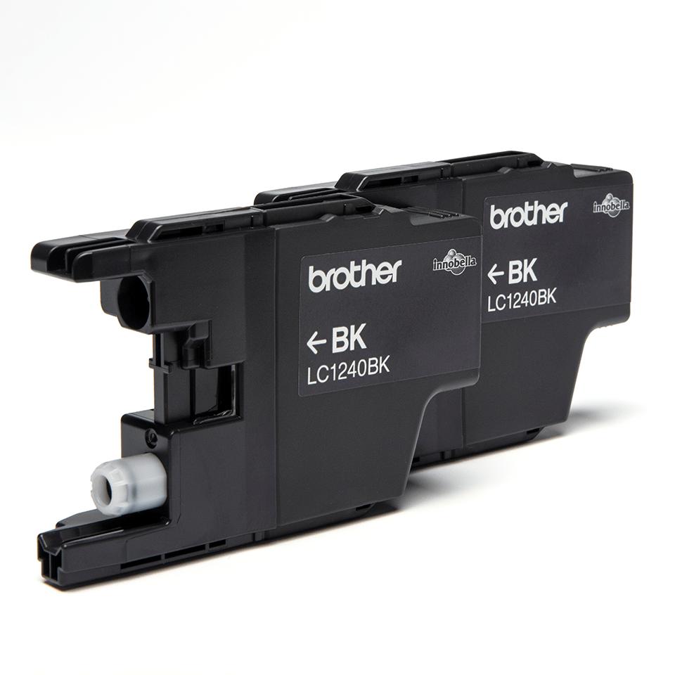 Pack de deux cartouches d'encre LC1240BKBP2 Brother originales – Noir 2