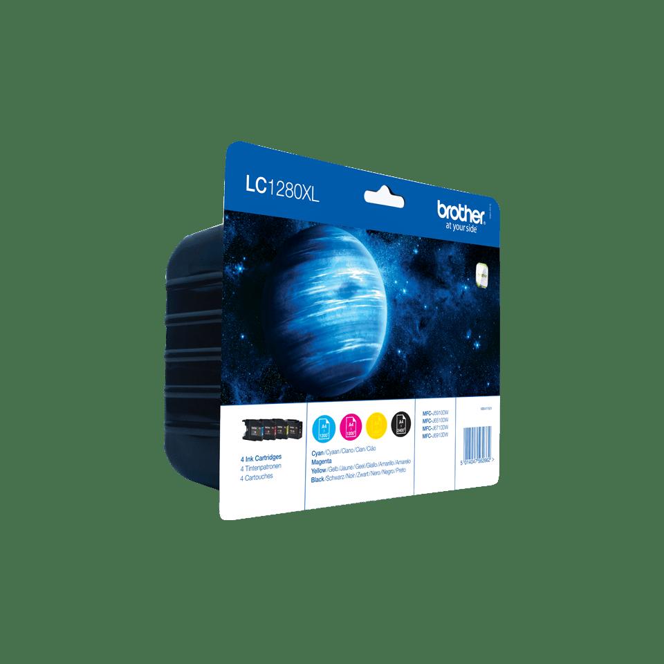 Pack de cartouches d'encre LC1280XLVALBP Brother originales à haut rendement  2