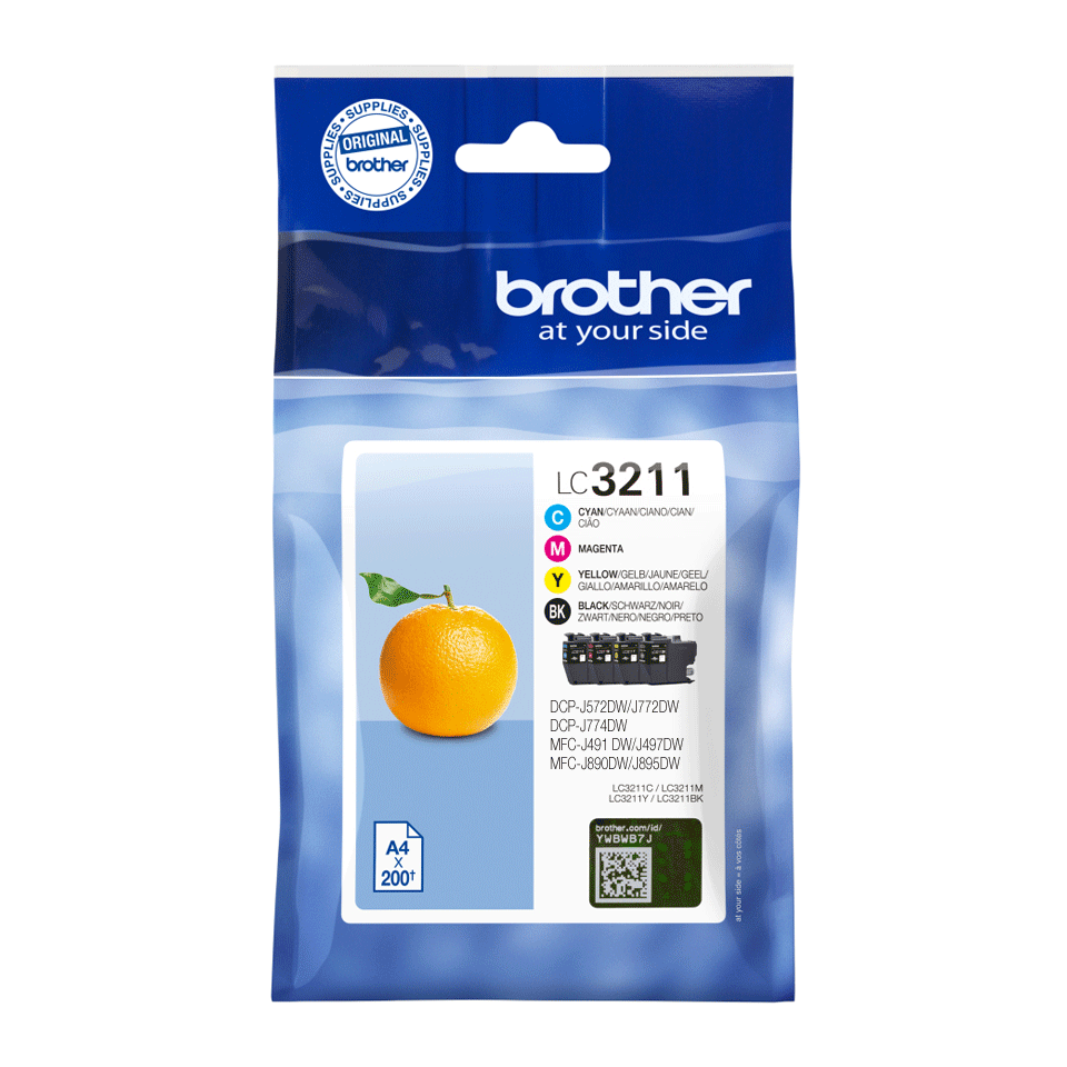 Pack de cartouches d'encre originales Brother LC3211VAL 2