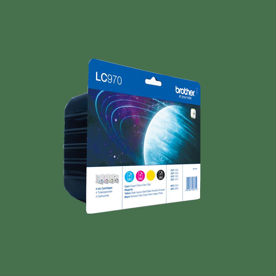 Pack de cartouches d'encre LC970VALBP Brother originales  2
