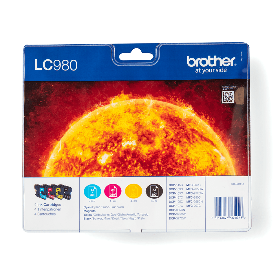Pack de cartouches d'encre LC980VALBP Brother originales