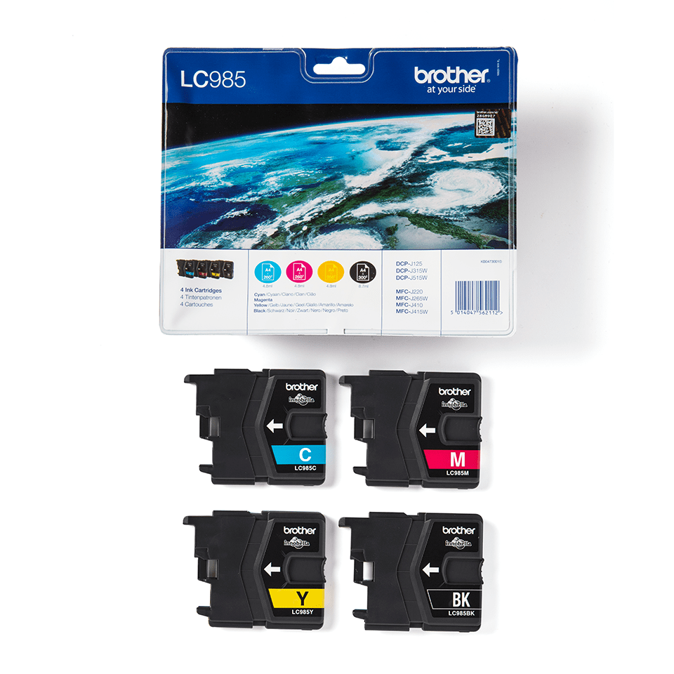 Pack de cartouches d'encre LC985VALBP Brother originales  3