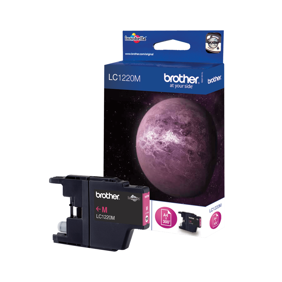 Cartouche d'encre LC1220M Brother originale – Magenta