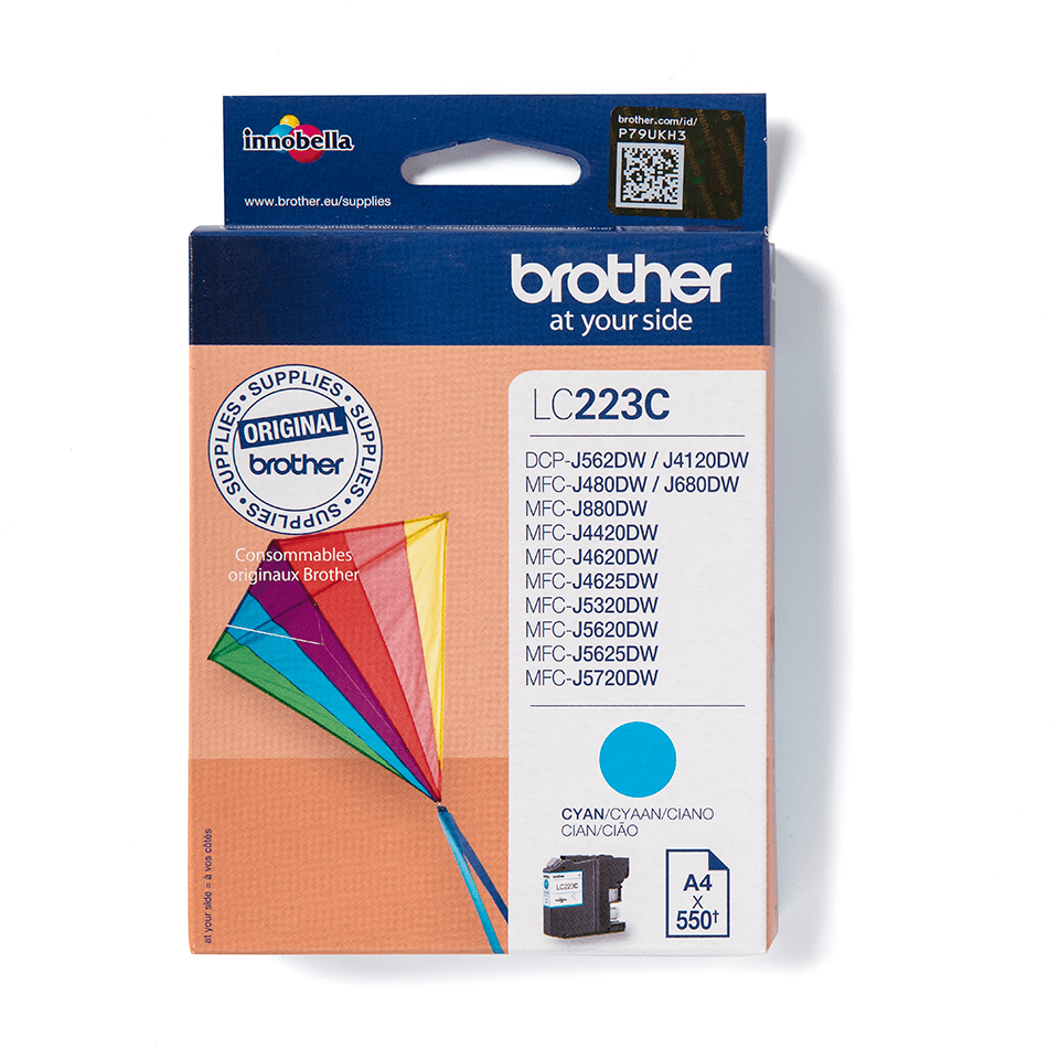 Cartouche d'encre LC223C Brother originale – Cyan 3