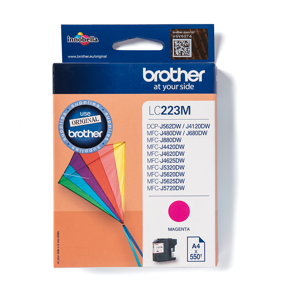 Cartouche d'encre LC223M Brother originale – Magenta