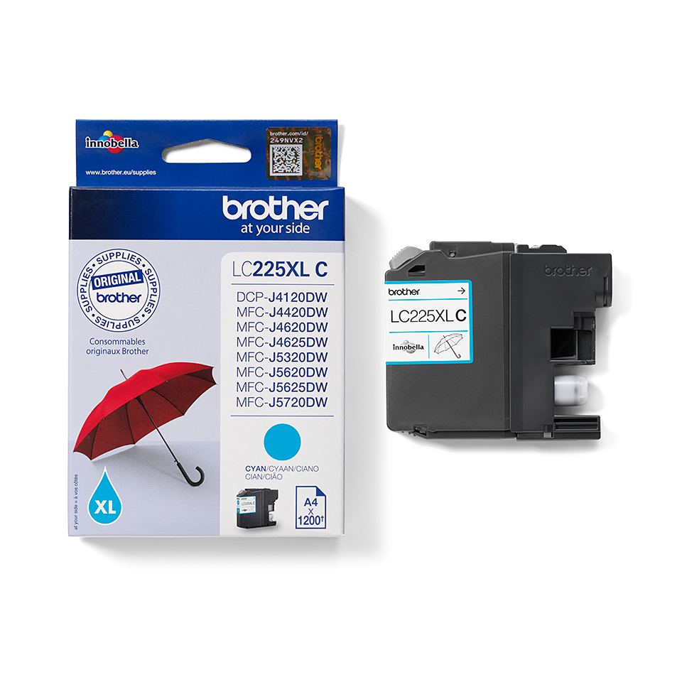 Cartouche d'encre LC225XLC Brother originale - Cyan 2