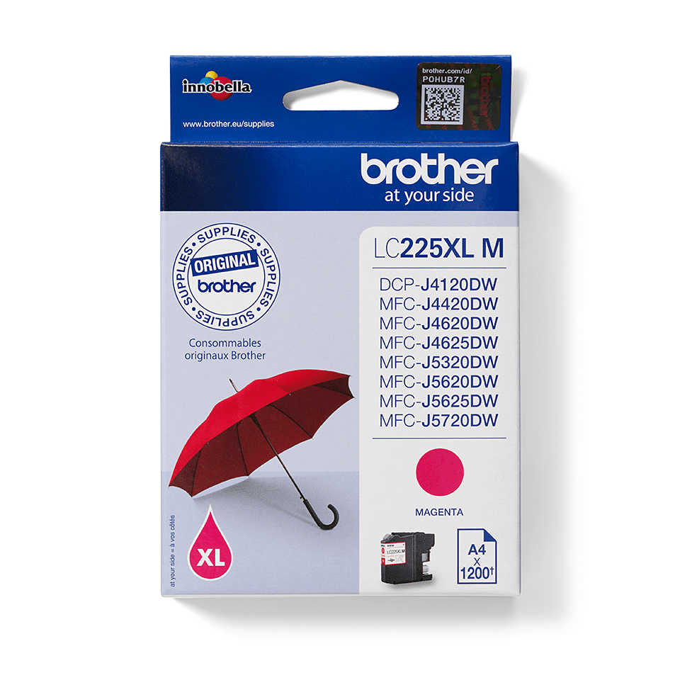 Cartouche d'encre LC225XLM Brother originale - Magenta