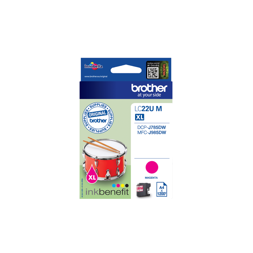 Cartouche d'encre LC22UM Brother originale – Magenta