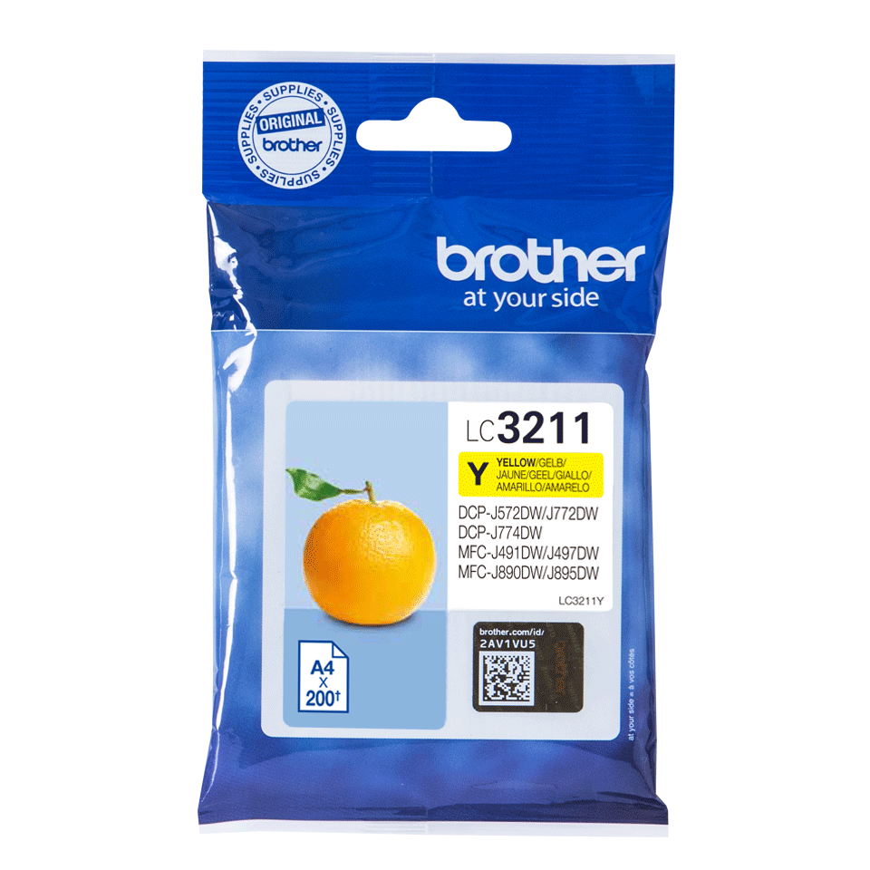 Cartouche d'encre originale Brother LC3211Y - Jaune
