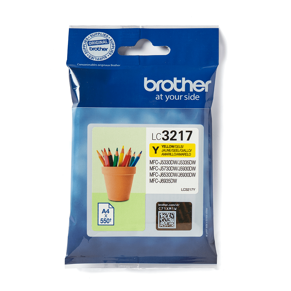 Cartouche d'encre LC3217Y Brother originale – Jaune 2