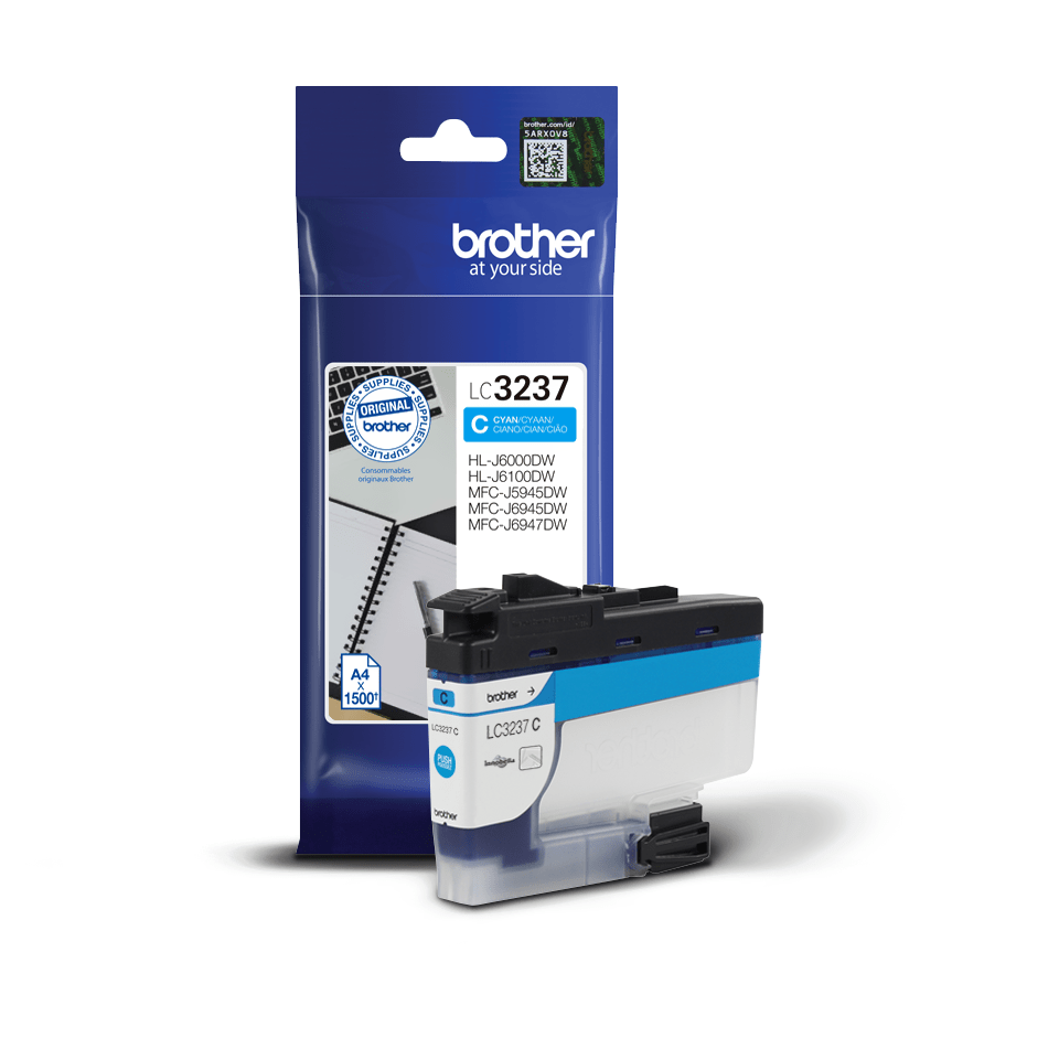Cartouche d'encre LC3237C Brother originale – Cyan 3