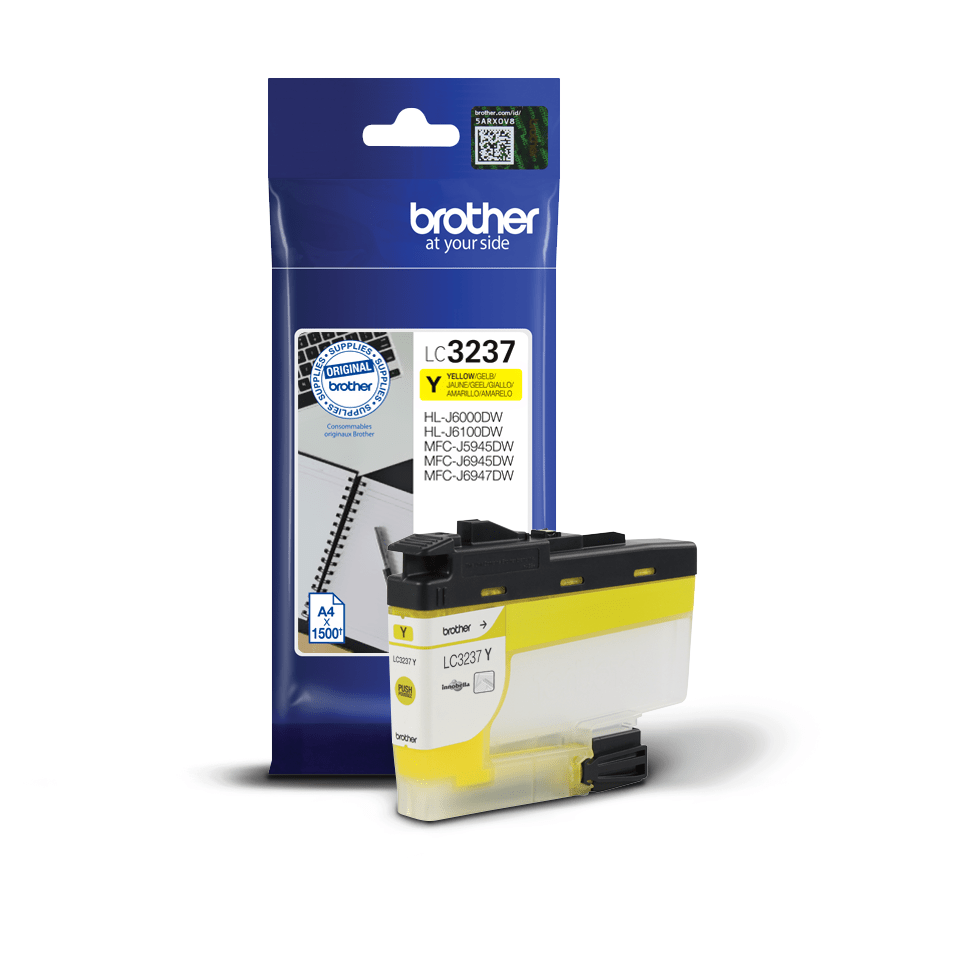 Cartouche d'encre LC3237Y Brother originale – Jaune 3