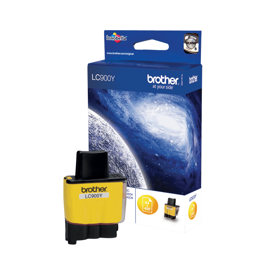 Cartouche d'encre LC900Y Brother originale – Jaune