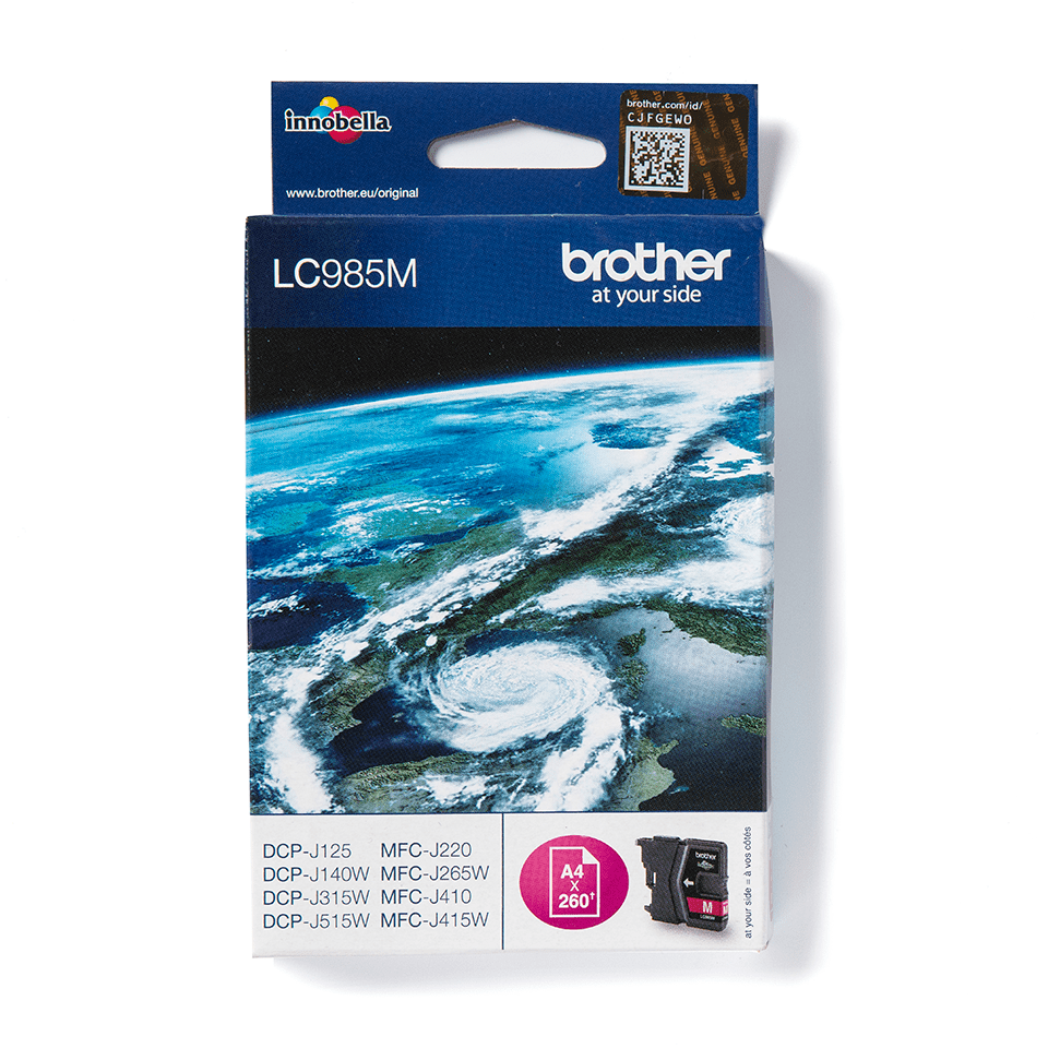 Cartouche d'encre LC985M Brother originale – Magenta