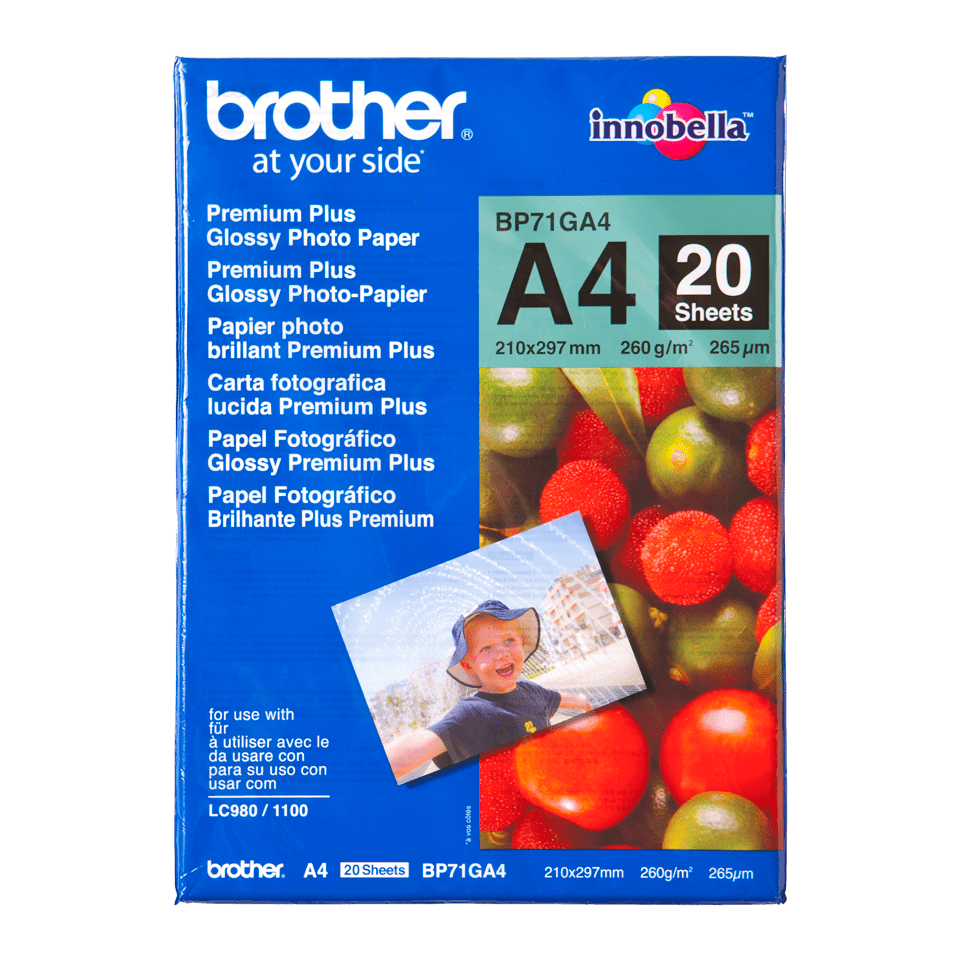 Papier photo brillant BP71GA4 A4 Brother original