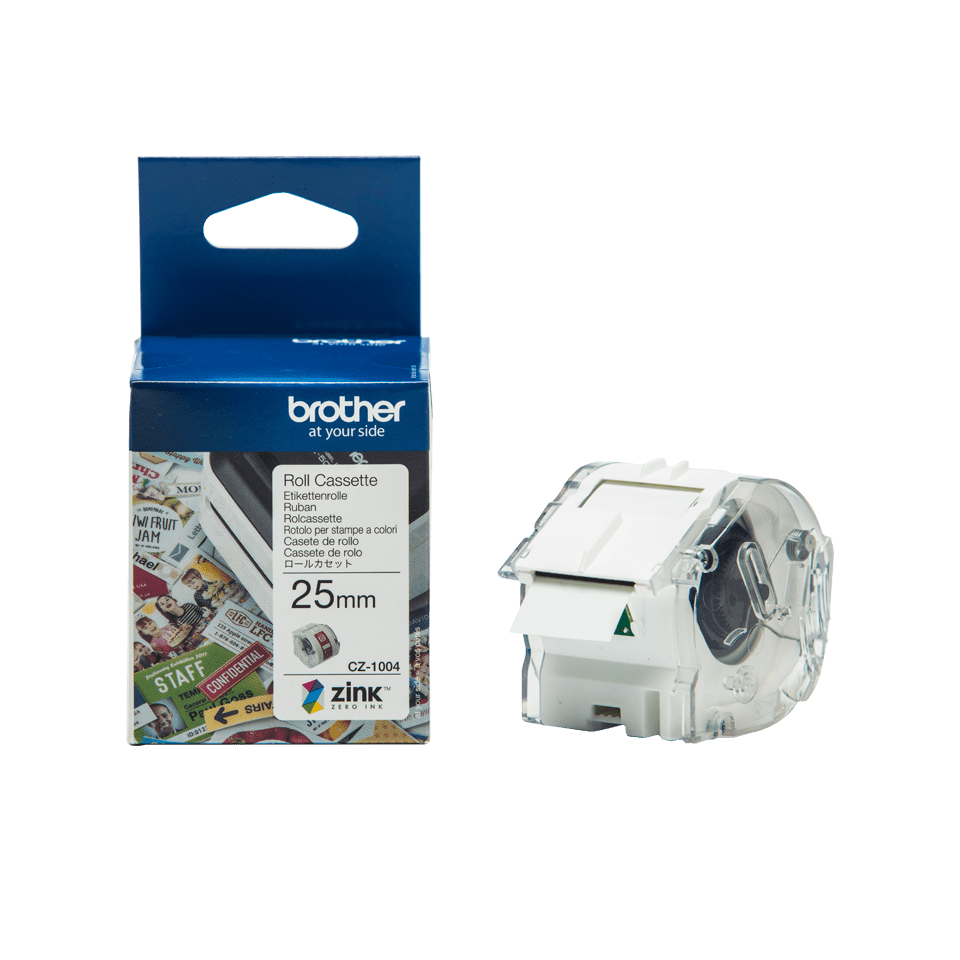 Genuine Brother CZ-1004 full colour continuous label roll, 25mm wide 16