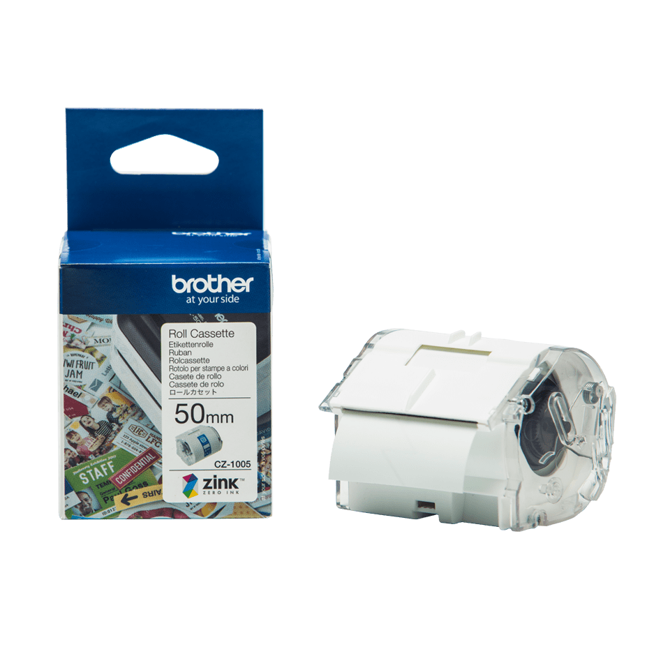 Genuine Brother CZ-1005 full colour continuous label roll, 50mm wide 16
