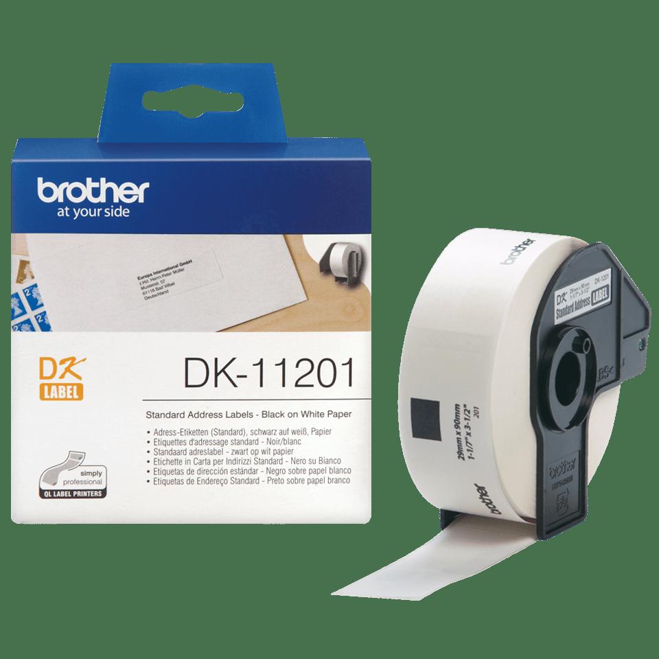 Rouleau d'étiquettes DK-11201 Brother original – Noir sur blanc, 29x90mm 3