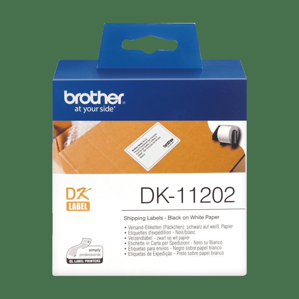 Rouleau d'étiquettes d'expédition DK-11202 Brother original – Noir sur blanc, 62x100mm