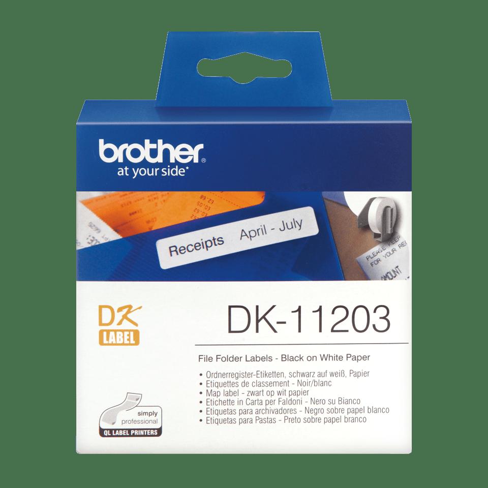 Rouleau d'étiquettes DK-11203 Brother original – Noir sur blanc, 17x87mm 0