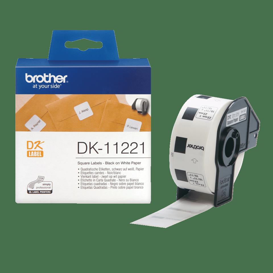 Rouleau d'étiquettes DK-11221 Brother original – Noir sur blanc, 23x23mm 3
